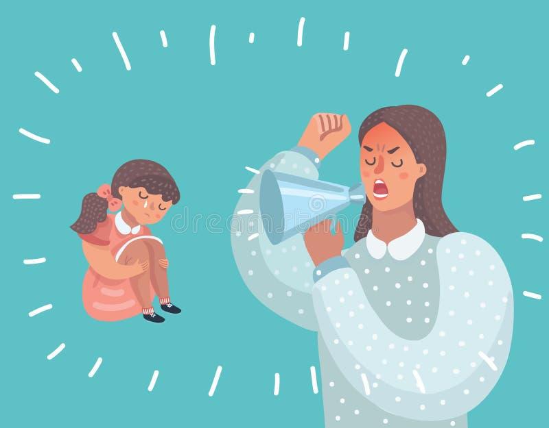 La mère et sa fille se sont disputées illustration libre de droits