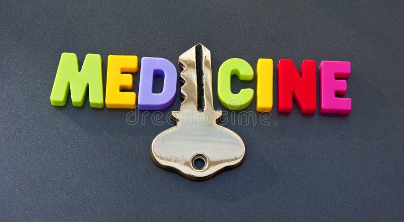 La médecine tient la clé image stock
