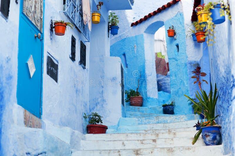 La Médina bleue de la ville de Chefchaouen au Maroc, Afrique du Nord photographie stock libre de droits
