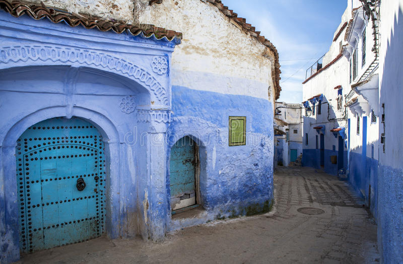 La Médina de Chefchaouen, Maroc images stock