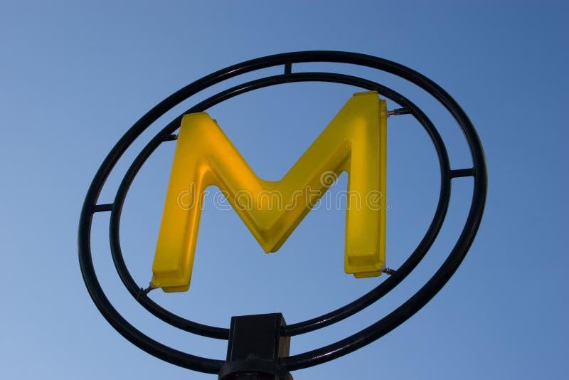 La métro parisien. photos stock