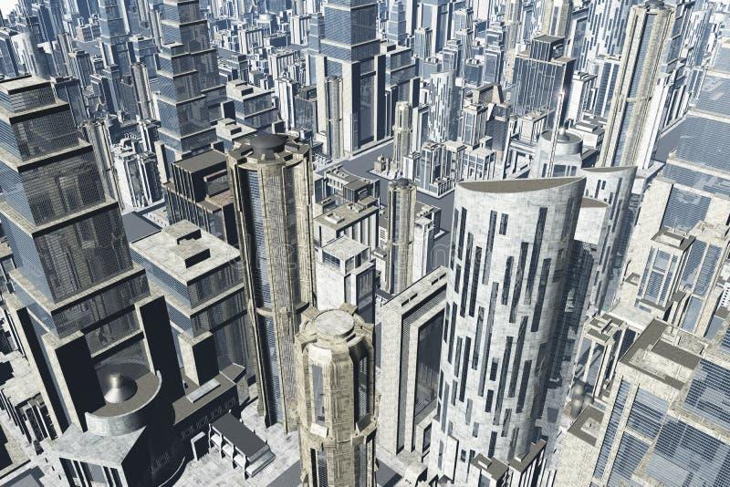 La métropole 3D rendent image stock