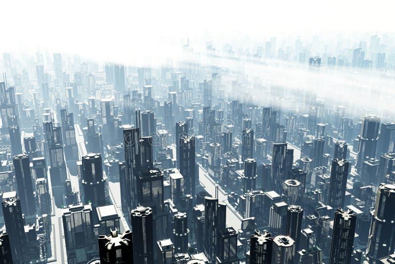 La métropole 3D rendent illustration de vecteur