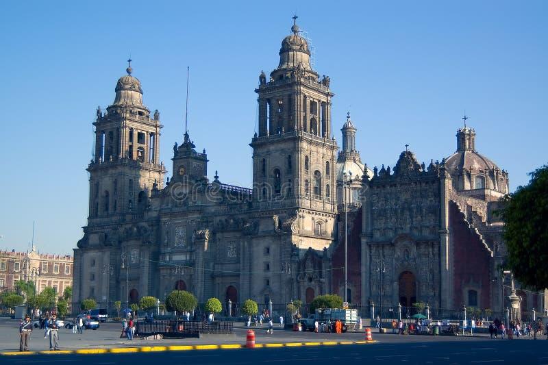 La métropolitaine de cathédrale, Mexique image stock
