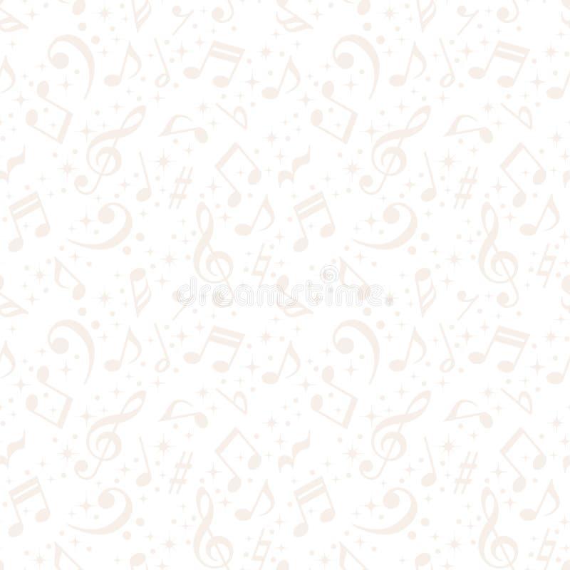 La música blanca observa el fondo ilustración del vector
