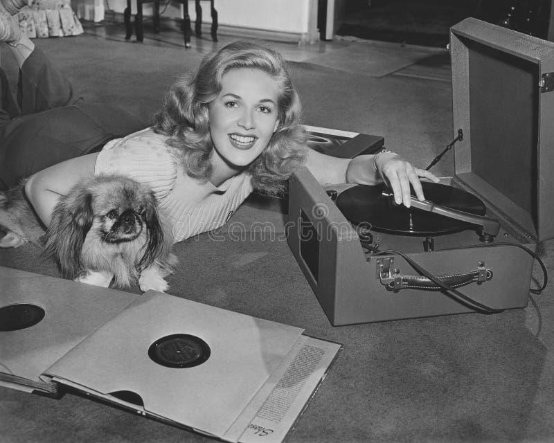 La música calma la bestia salvaje fotografía de archivo