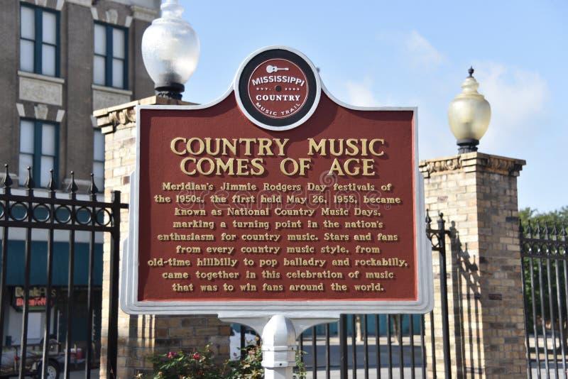 La música country viene de la edad, Mississippi meridiano fotos de archivo libres de regalías