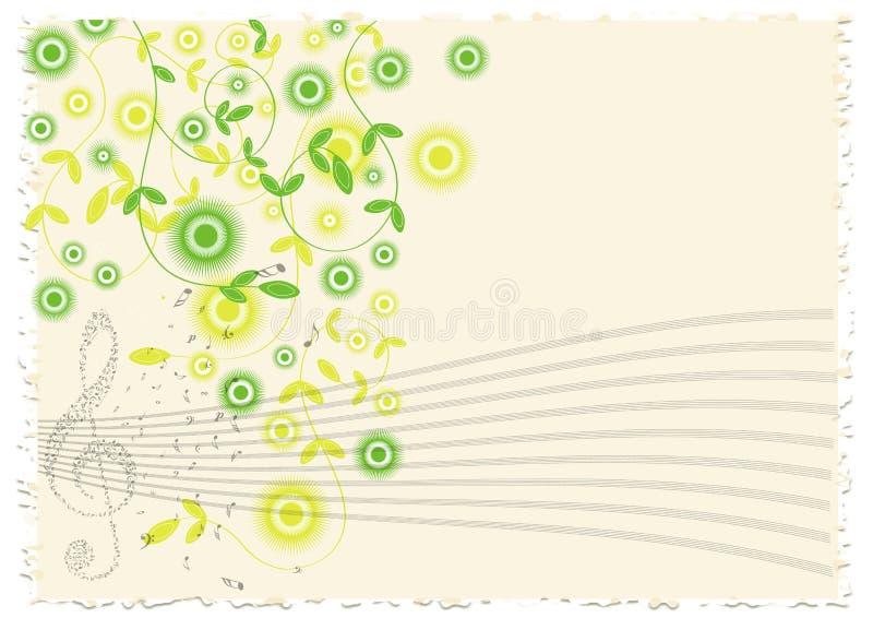La música del vintage observa el fondo libre illustration