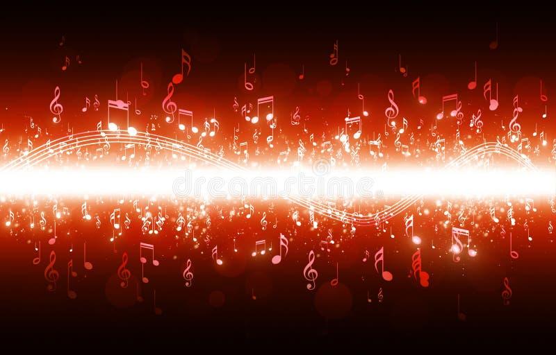 La música observa el cartel rojo libre illustration