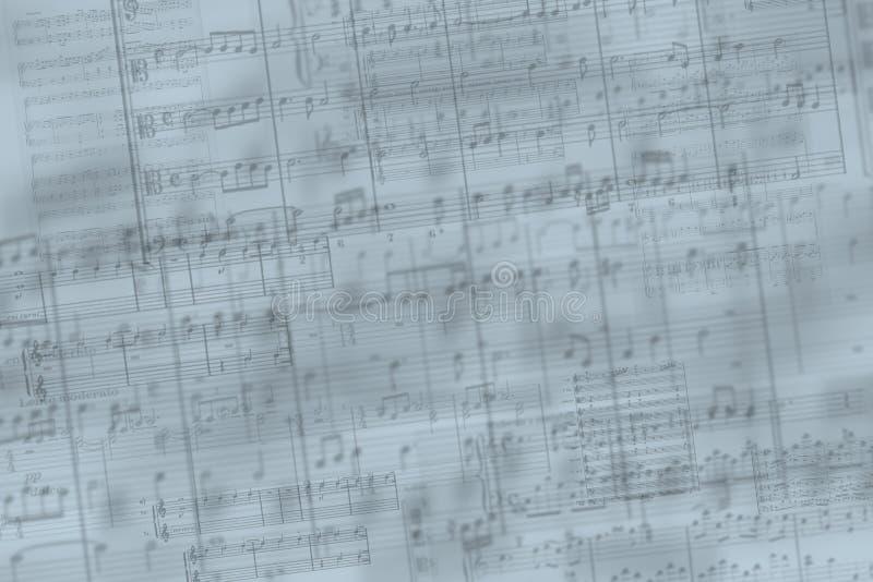 La música observa el fondo imagenes de archivo