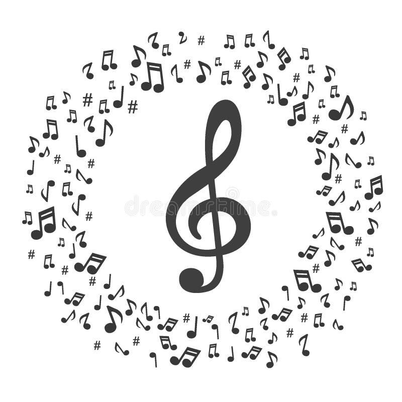 La música observa el fondo de la acuarela de las notas musicales - ilustrador del vector libre illustration