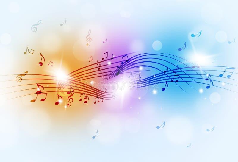 La música observa el fondo multicolor stock de ilustración