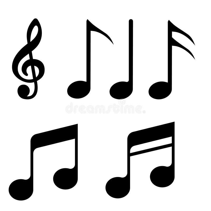 La música observa el sistema de los iconos del vector Observe el icono del vector Colección del ejemplo de la música ilustración del vector