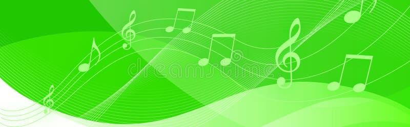 La música observa la cabecera ilustración del vector