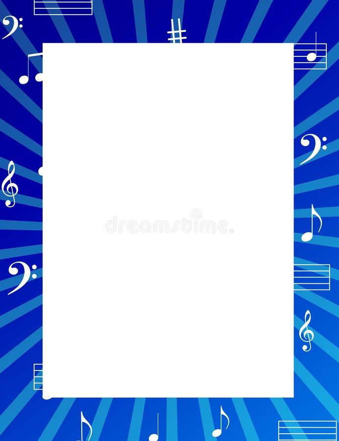 La música observa la frontera/el marco ilustración del vector
