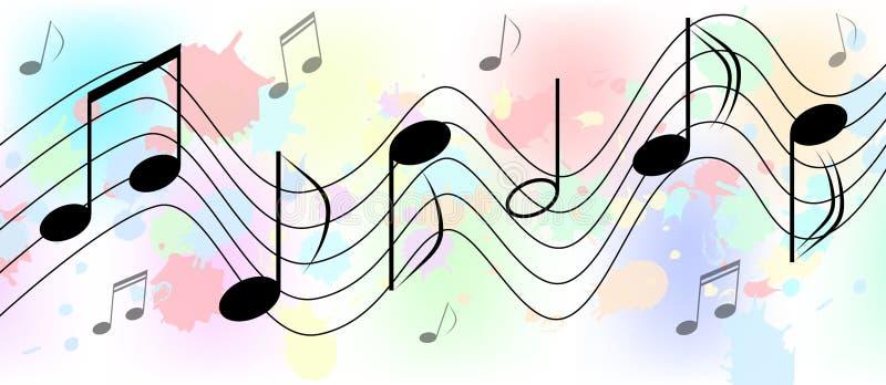 La m?sica observa en salpicones coloridos y salpica el fondo libre illustration