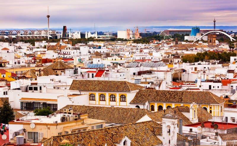 La Macarena Spanish Houses Seville Spain de de la basílica fotografía de archivo