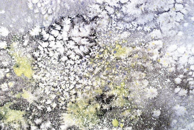 La macchia rossa porpora di rosa blu luminoso dell'acquerello gocciola le chiazze Illustrazione astratta illustrazione vettoriale