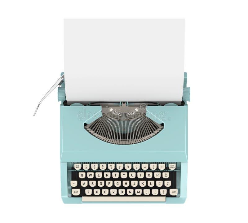 La macchina da scrivere dell'annata ha isolato immagine stock