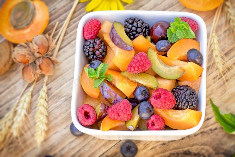 La macedonia sana deliziosa, macedonia ha preparato con frutta organica fresca immagine stock libera da diritti