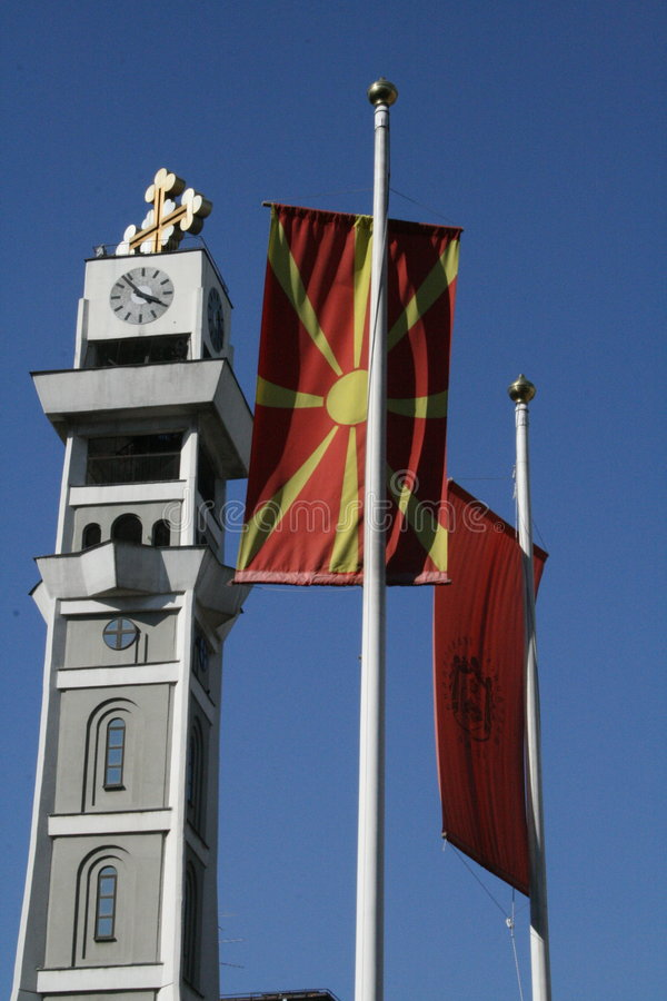 La Macedonia Skopje Sveti clemente fotografie stock