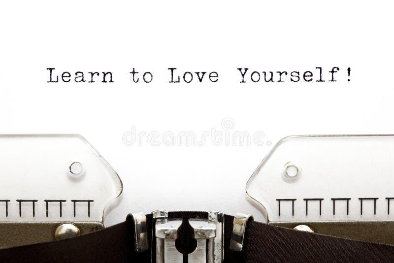 La machine à écrire apprennent à s'aimer photo stock