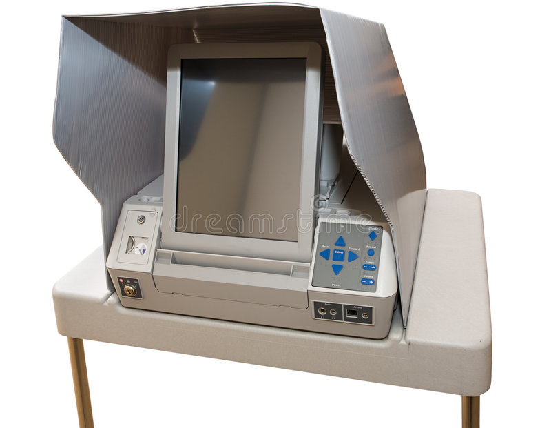 La Machine à Voter La Plus Neuve D écran Tactile Photographie stock libre de droits