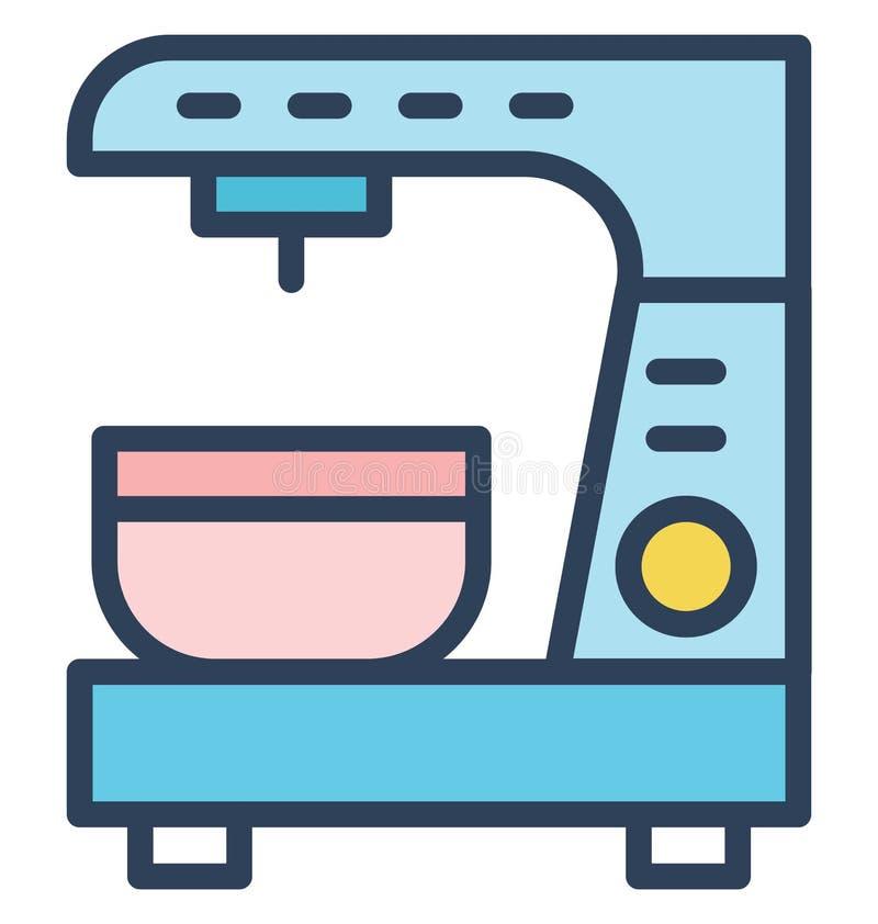 La machine de café a isolé l'icône de vecteur qui peut être facilement modifiée ou éditée illustration de vecteur