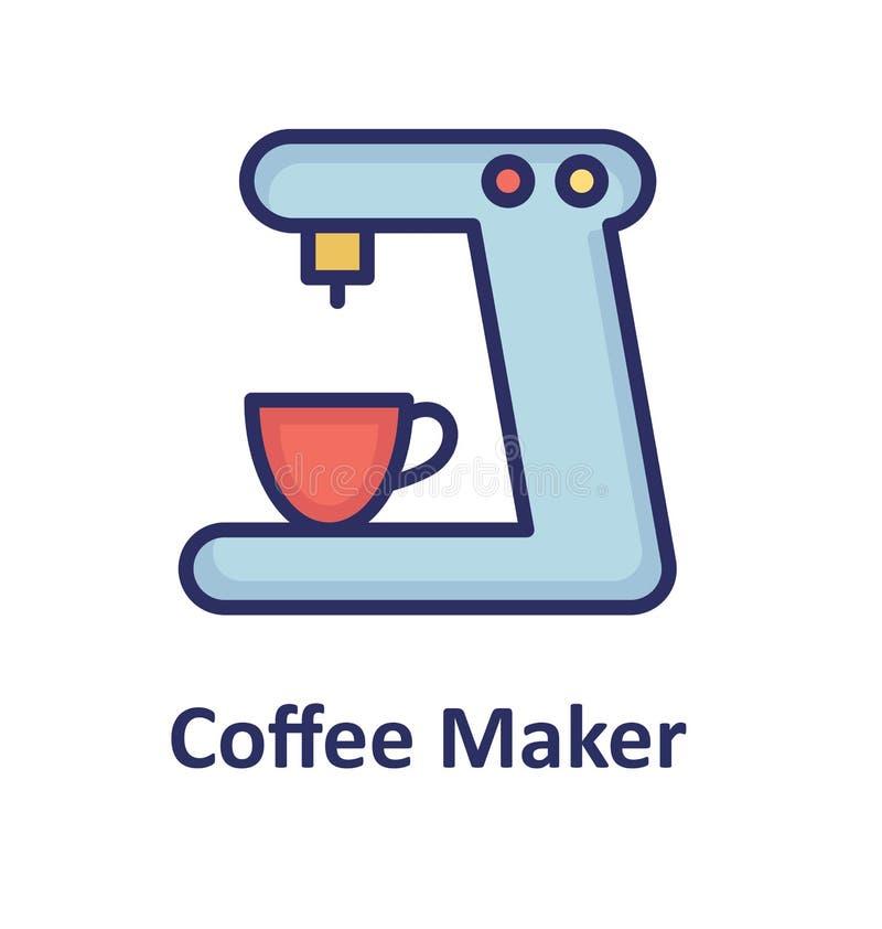 La machine de café a isolé l'icône de vecteur qui peut facilement modifier ou éditer illustration stock