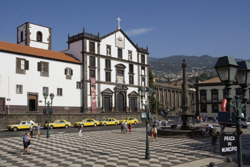 La Madère - Funchal - le Praca font Municipio photos stock