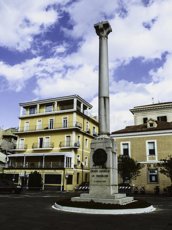 La Maddalena, Italien: Monument zu Giuseppe Garibaldi stockbild