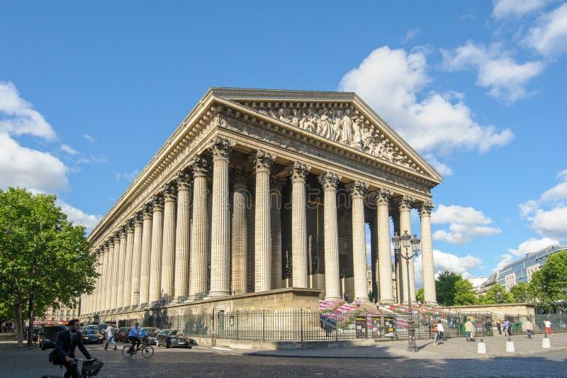 La Madeleine Church em Paris, França fotos de stock royalty free