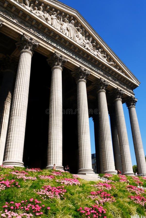 La Madeleine Church Paris France foto de stock