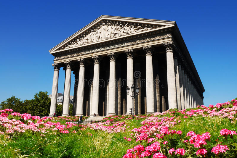 La Madeleine Paris France stockbild