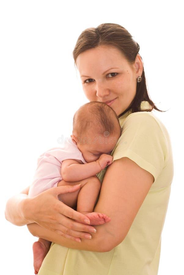 La madre celebra al bebé foto de archivo libre de regalías