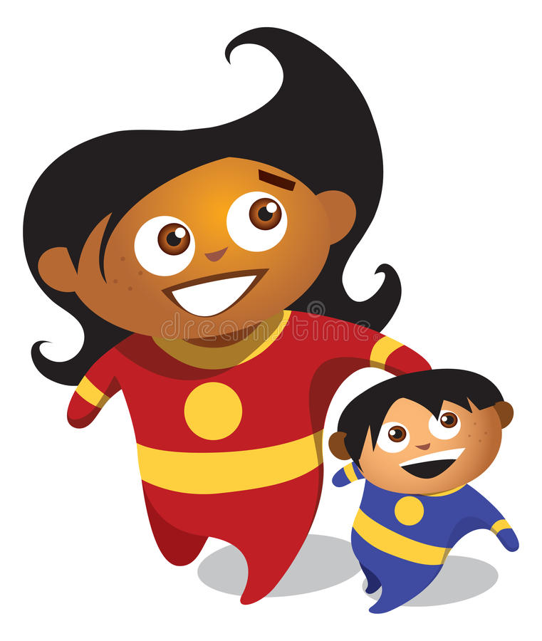 La madre e figlio illustrazione vettoriale