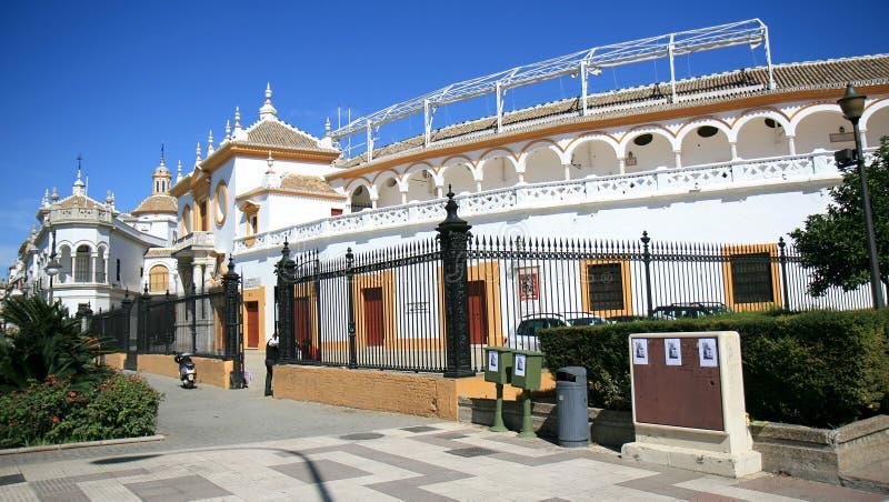La Maestranza de Plaza de Toros de, Sevilha, Spain imagens de stock