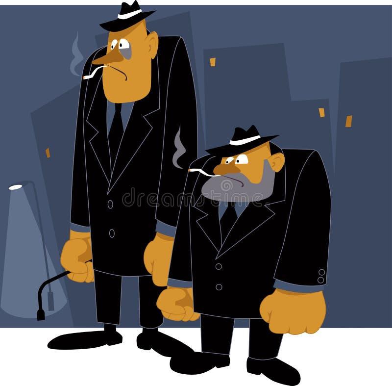 La Mafia ne dort jamais illustration stock