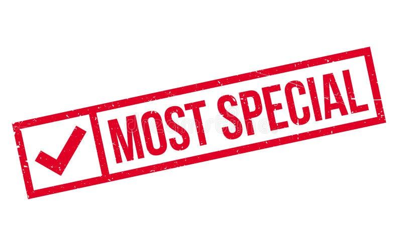 La maggior parte del timbro di gomma speciale illustrazione di stock