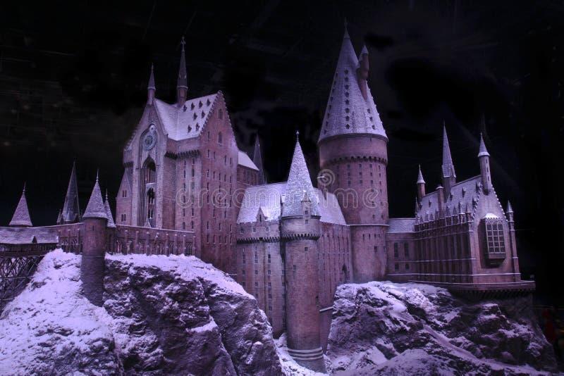 La magia del castillo de Hogwarts imagen de archivo