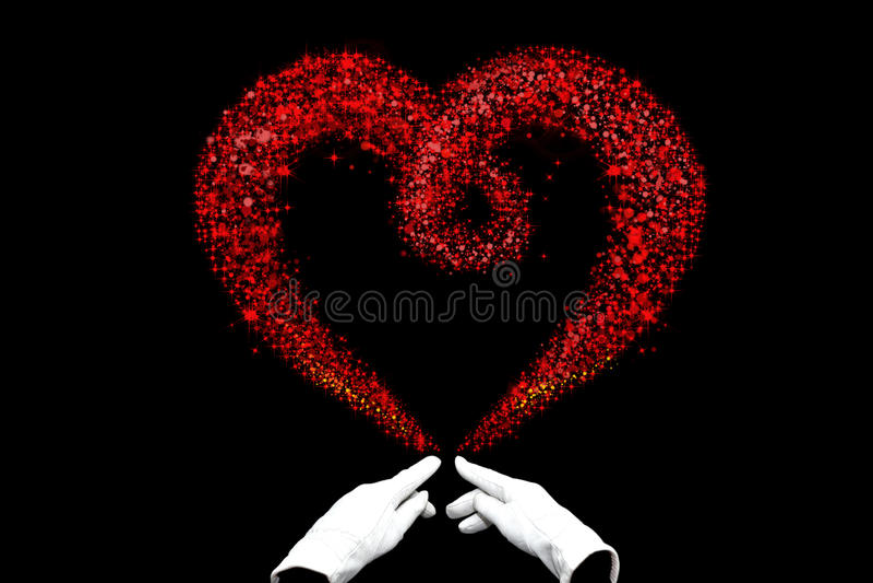 La magie de Valentine image stock