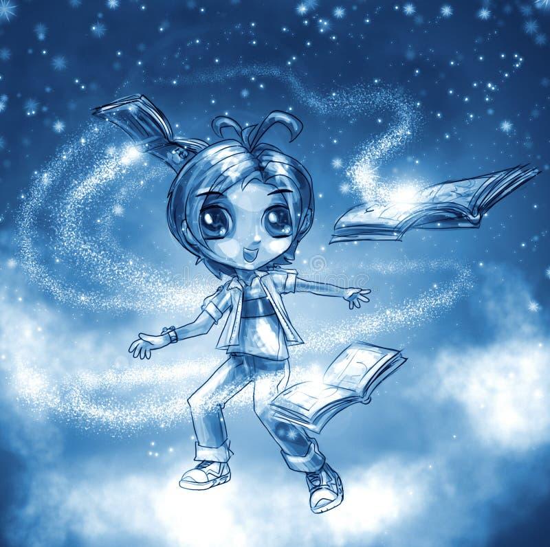 La magie des livres illustration libre de droits