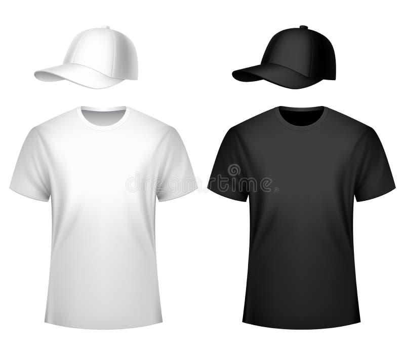 La maglietta ed il berretto da baseball degli uomini fotografia stock