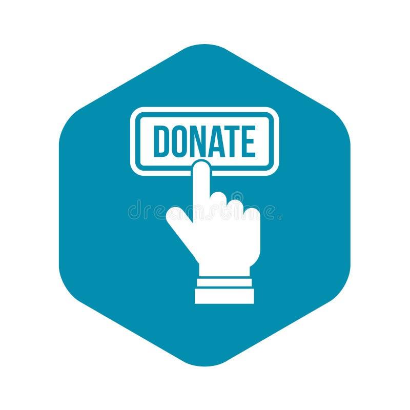 La main appuie sur le bouton pour donner l'ic?ne, style simple illustration libre de droits