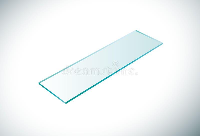 La main dans le gant bleu juge le laboratoire en verre avec le sang illustration stock