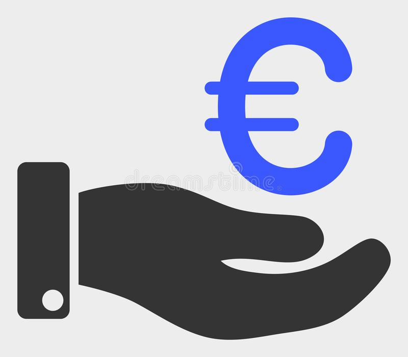 La main donnent l'euro illustration d'icône de vecteur illustration de vecteur