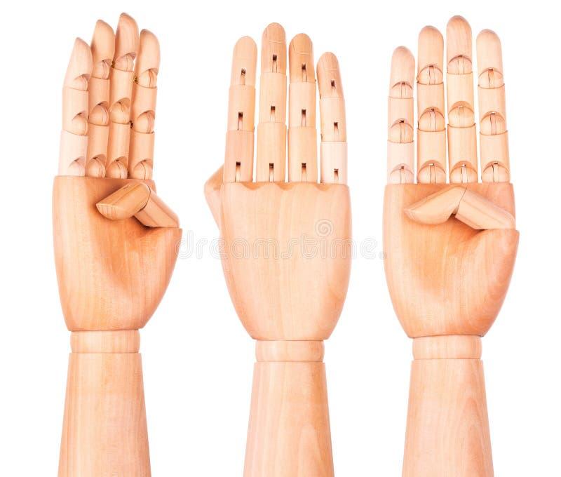 la main en bois montre quatre doigts image stock image du bras transmission 40192539. Black Bedroom Furniture Sets. Home Design Ideas