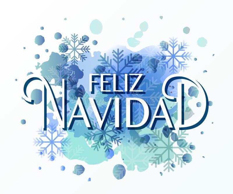 La main a esquissé le logotype de Feliz Navidad (nouvelle année de couche dans l'Espagnol) illustration libre de droits