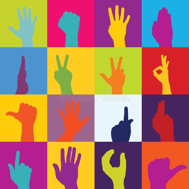 La main estampe le vecteur illustration stock