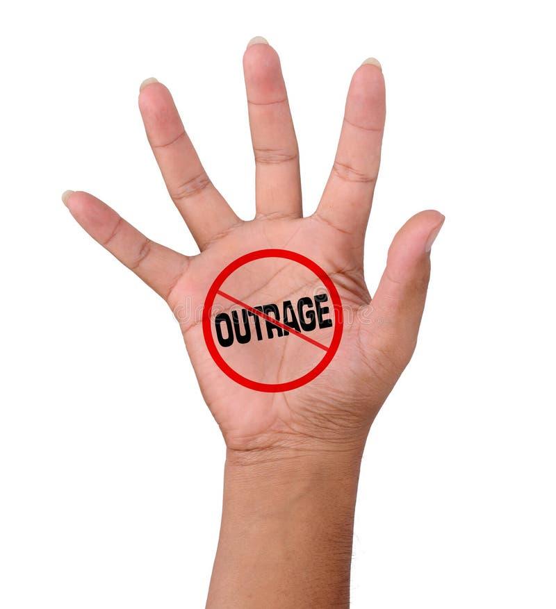 La main et n'expriment aucun outrage photos stock